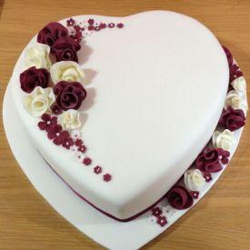Vanilla Cake Heart Shaped